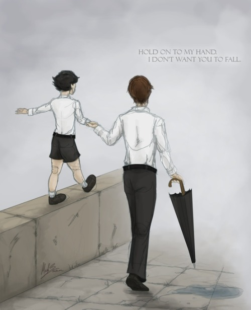 chancemedley116:  Mycroft and Sherlock. This breaks my heart.