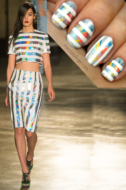 MANICURE MUSE: Jonathan Saunders Spring '13 Holographic anything [in general] is pretty rad. Holographic clothes are even cooler. And just when you think it can't get any better, there's such a thing as holographic nail polish…