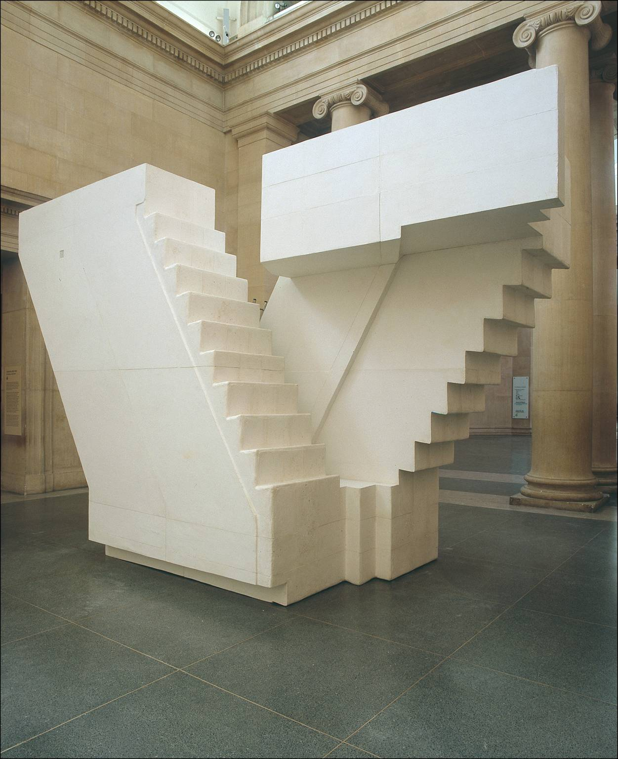 "drawingreferences2013:  Poetics of Space (""Untitled (Stairs)"", Rachel Whiteread, 2001)"