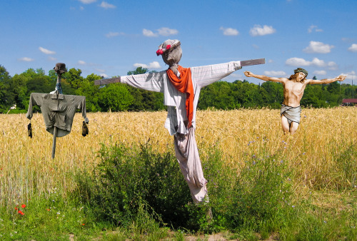 Jesus As A Scarecrow