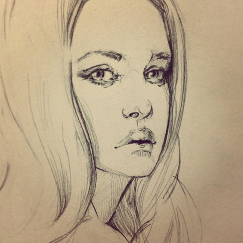 New sketchbook, new year. Breaking it in with a photo study done from a portrait shot by zemotion. Her photos are amazing! Sorry for the poor quality, I used my cell phone to shoot the sketch :x