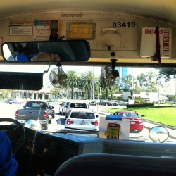 SOMEHOW I ENDED UP ON A SCHOOL BUS!!!