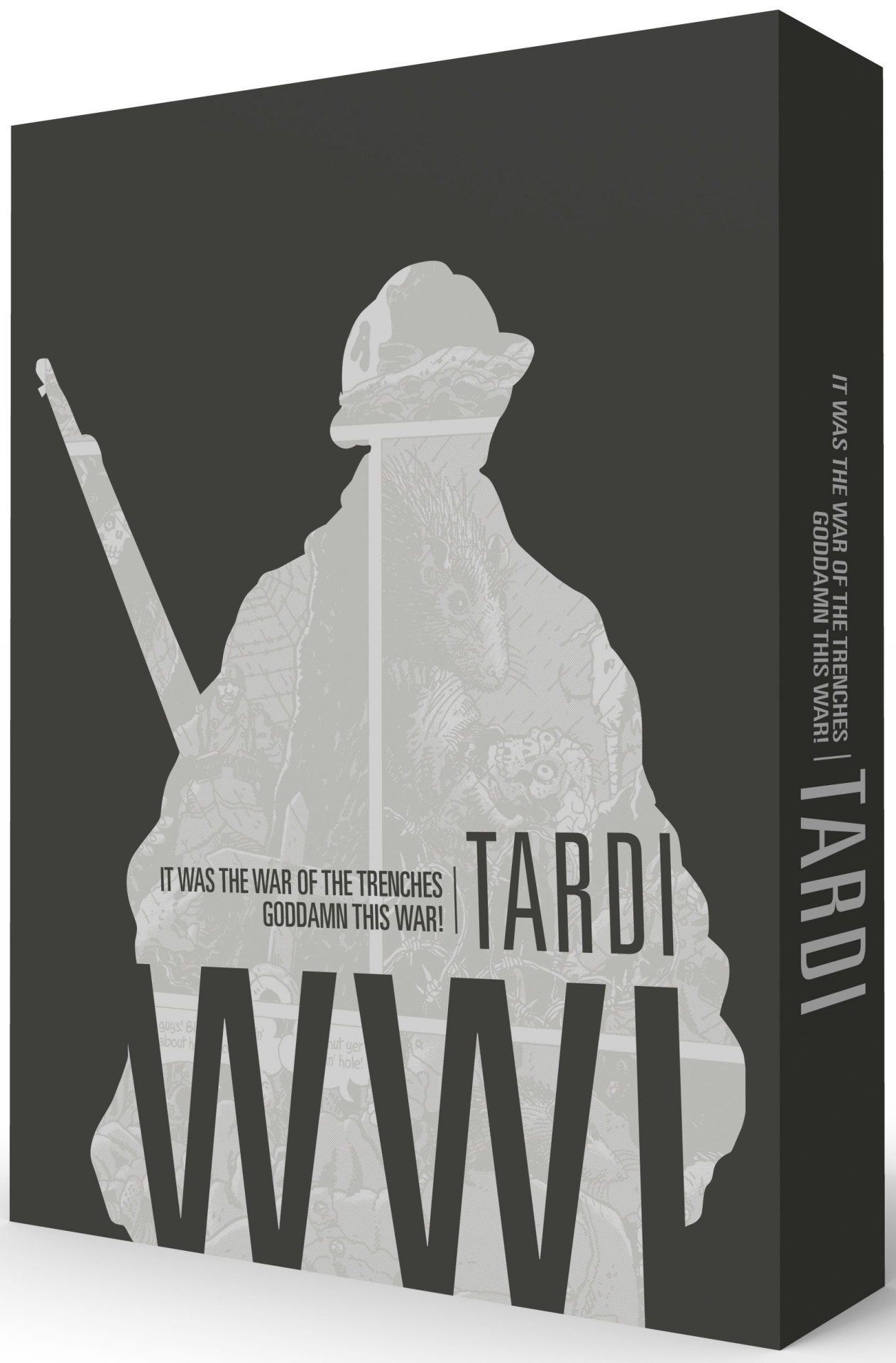 "Just arrived and shipping now from our mail-order department: Tardi's WWI: It Was the War of the Trenches/Goddamn This War!by Jacques Tardi 260-page black & white with color 8.25"" x 10.75"" hardcover • $39.99ISBN: 978-1-60699-769-7 See Previews / Order Now Jacques Tardi is responsible for the two acknowledged graphic novel masterpieces about World War I: It Was the War of the Trenches and Goddamn This War! To commemorate the 100th anniversary of the start of WWI in 2014, Fantagraphics is proud to release a two-volume boxed set collecting these two perennial classics. The first book, It Was the War of the Trenches, focuses on the day to day of the grunts in the trenches, bringing that existence alive as no one has before or since with some of his most stunning artwork. His second WWI masterwork, Goddamn This War!, is told with a sustained sense of outrage, pitch-black gallows humor, and impeccably scrupulous historical exactitude, in masterful full color."