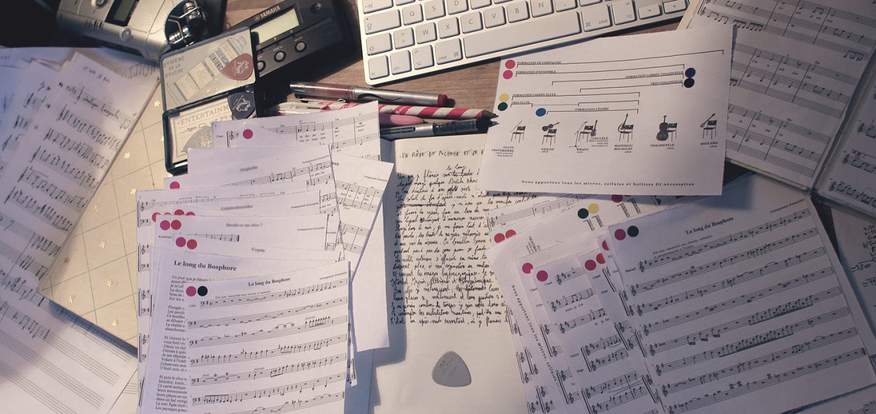 Weeks after weeks, writing music