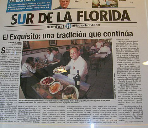 El Exquisito in Miami! Great name, great place to eat.