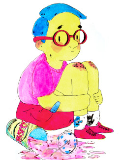 Illustration the simpsons ink digital Milhouse artists on tumblr