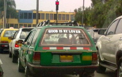 Even if they were going for 'God', I don't think it translated well. I leave for Cuzco at 7am tomorrow morning, thus ending my stay in Arequipa. As I think about these past 13 months, it's been quite a whirlwind of an adventure. People have come and gone, bars have changed, buildings have been constructed and destroyed, but yet Arequipa will always be the great city that I have come to love during my stay.  The plan is as follows: Cuzco for a week or so, States for 3 months, then moving to China May 20th. I'll keep the blog going and certainly try to keep things interesting, although after leaving Peru, I'm sure to lose a lot of good material. However, there will be plenty of pictures from Cuzco, including my 'oh-so-touristy' foto of me with Machu Picchu in the background. Get excited Tumblr.
