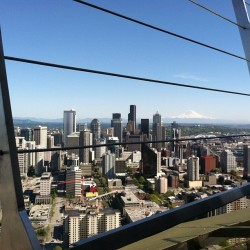 High point of the tour of Seattle but only literally.  (at Space Needle: Observation Deck)