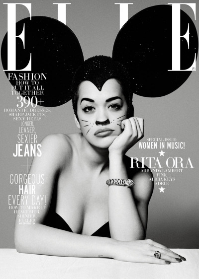 Rita Ora covers U.S Elle Magazine's Women In Music issue