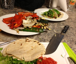 Oh Grill!  How I've missed thee! Yes!  Grilled veggie taco night.