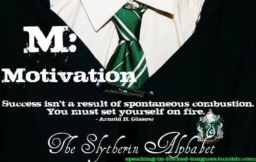 speaking-in-forked-tongues:  M: Motivation Success isn't a result of spontaneous combustion. You must set yourself on fire.  - Arnold H. Glasow