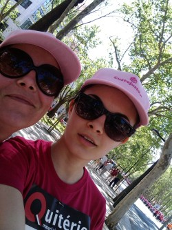 My mum and I after the run. It was a lot of fun!   There were so many women there, young, older, in every size and shape, it was wonderful to see everyone come together to support this cause.  We managed to raise over 67000€, if I remember correctly!  Can't wait for my next run, which might be The Color Run!   -xo