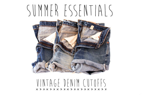shopthemrkt:  Get your shorts just in time for summer! Cute vintage denim cutoffs for her, now on The Mrkt.