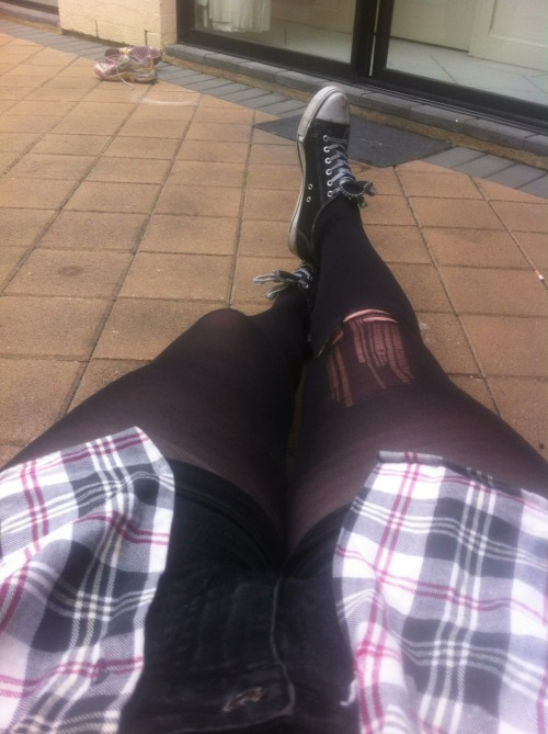 Bogan day feat. Ripped stockings.