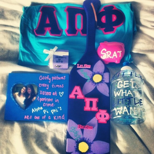 emmmmmmaj:  All the amazing presents from my big! #big #little #love #sister #sorority @alphapiphisorority @llc1090 thank you 😘