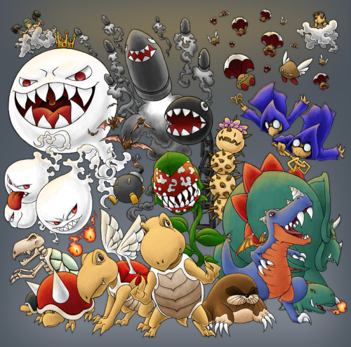 Mario Monsters by ~Kevichan