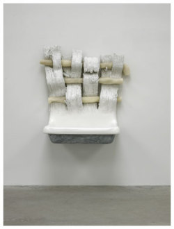 Robert Gober. Untitled 2012 Plaster, beeswax, human hair, epoxy putty, enamel paint 44 1/2 x 43 x 23 inches; 113 x 109 x 58 cm. Matthew Marks Gallery