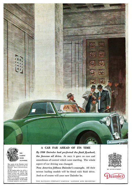 Daimler advertisement. by totallymystified on Flickr.Daimler advertisement.