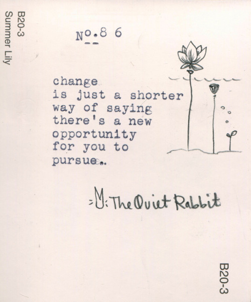 thequietrabbit:  no.86 - change.