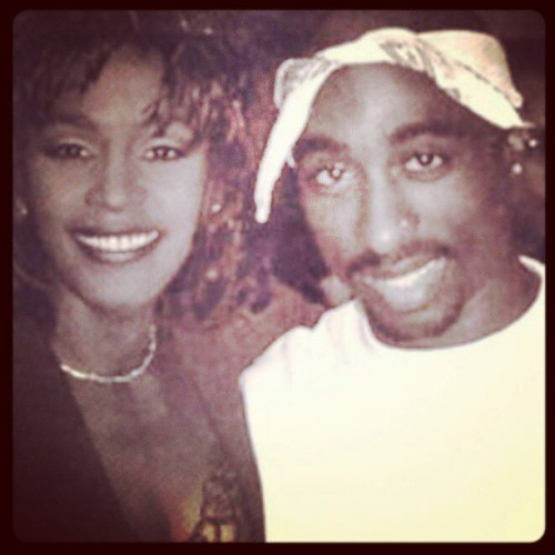 Two of my favorites ♥ #rip #tupac #whitney #music