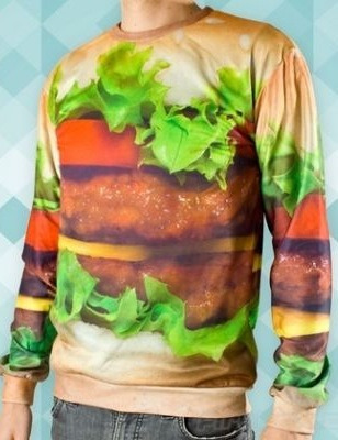 hamburger sweater. i wouldn't, or would i?