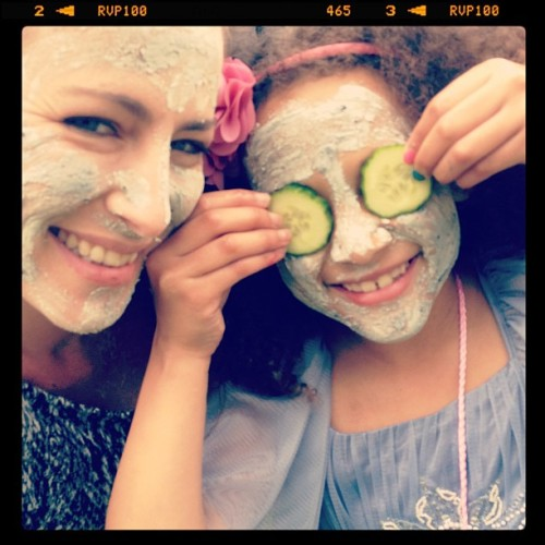 Mini me…. Pamper party! Best facial ever :-)