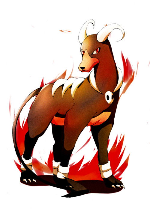 alternativepokemonart:  Artist Houndoom by request.
