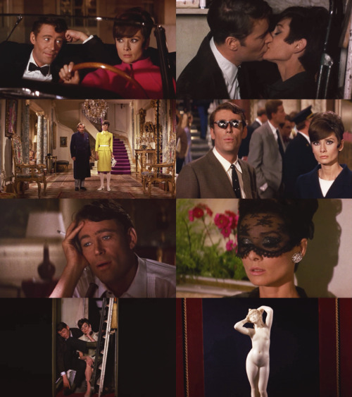 downlookingup:  How to Steal a Million (1966; dir. William Wyler) This movie is just so fun. It's got Audrey Hepburn, who is so bubbly and relatable and endearing in everything, and wearing these fantastic outfits by Givenchy; Peter O'Toole with those super dreamy blue eyes; and the heist itself is really convoluted and entertaining and brilliant. To keep it short: Nicole (Hepburn) is the daughter of a fantastic art forger. She catches Simon (O'Toole) trying to steal a (fake) Van Gogh from their house and later enlists his help in stealing a (fake) marble sculpture from a very secure museum. The sexual tension is through the roof and Nicole's relationship with her obstinate father (he refuses to stop forging art) is really adorable. Couple that with some laughs, bright colors, ridiculous millionaires, and really mod cars, and you've got a winner.