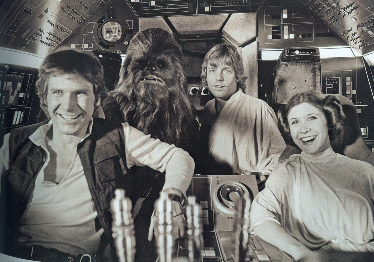 On the set of Star Wars Episode IV: A New Hope
