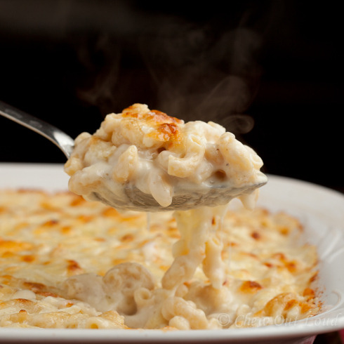 perfectly creamy mac and cheese.