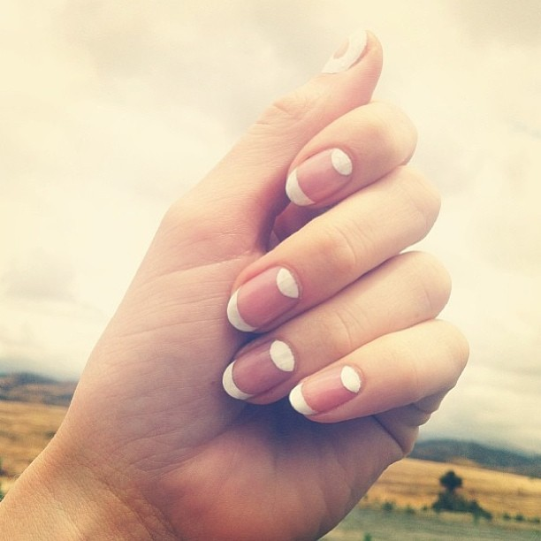 nailinghollywood:  White #moon tip on clean #nails by @mpnails #nailart #nailinghollywood