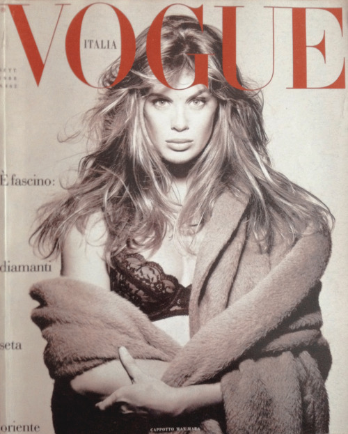 Vogue Italia, September 1988Photographer : Steven MeiselModel : Rachel Hunter