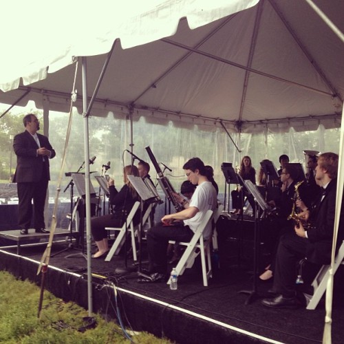Band tent #2013gwgrad #onlyatgw  (at The National Mall)