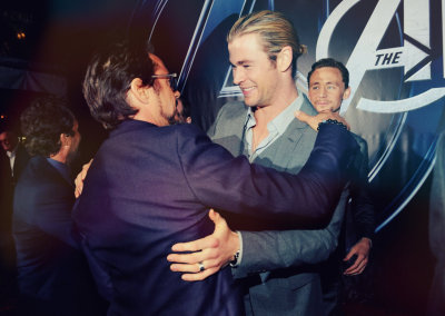 thor and iron man aka chris hemsworth and robert downey jr (2 of the worlds perfect men!)