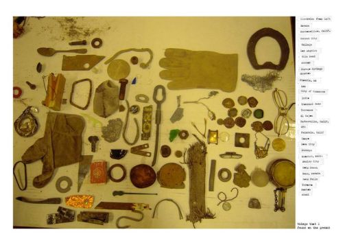 """Things that I found on the ground"", photograph by Tom Waits."