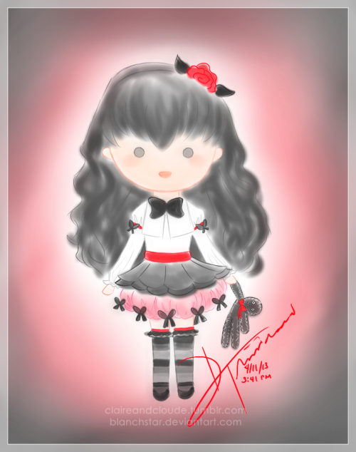 Hitomi Doll Actually this was supposed to be a bit more faint but I adjusted the backlight using Photoscape, which I also used for the frame and watermark. Done in Pain SAI. This is another original character of mine in our Gakuen Alice RP. She has the Voodoo Alice.  Art and Character © Daryll Trinidad Gakuen Alice © Higuchi Tachibana