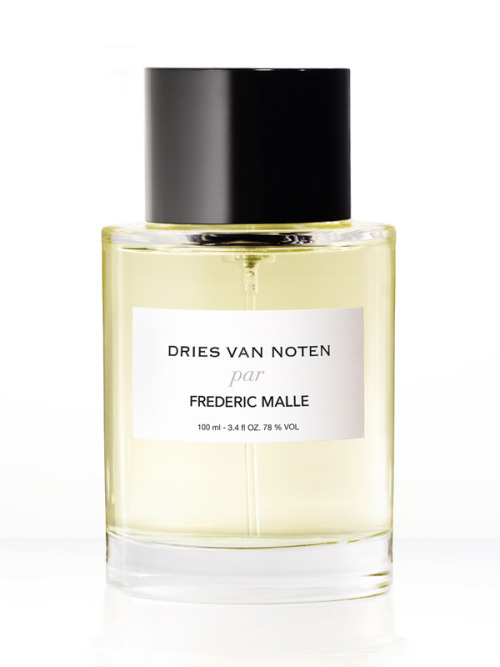 "At last Dries van Noten's esoteric designs are translated into fragrance and by none other than Frederic Malle. For the Editions de Parfums fans out there this is an especially exciting moment as this marks the very first time Malle is collaborating with a designer. The scent, described by perfumer, Bruno Jovanovic as being ""soft, sweet, creamy and milky"" a deconstruction of sandalwood, using 3 different musks - is set to debut February 15th and hit the US in April.  Van Noten admitted being ""surprised how complicated [perfume creation] was,"" needing assistance in getting started with the perfumery and getting the balance of notes right. But it came out right in the end. ""It was really like a portrait,"" he said. ""It is a portrait of my vision of fashion. There are a lot of elements which are there. There's a lot of tradition in it but there's something also surprising, which I hope I evoke the same emotions with my clothes."" He added, ""For me, it was a very interesting experience. I really liked it."""