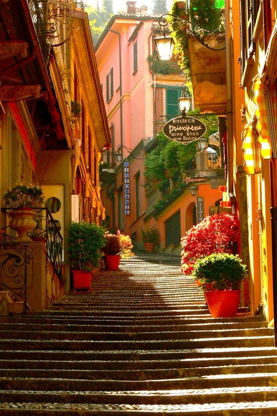 bluepueblo:  Stairway, Bellagio, Lake Como, Italy photo via glubbs