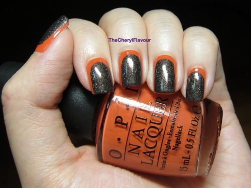 Ruffian Nails! See full post here! Polishes Used: OPI My Private Jet OPI Gwen-ever
