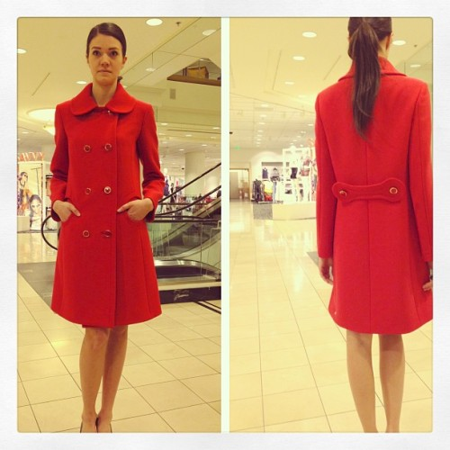Perfect #Spring statement coat from @MichaelKors in red wool with mod details.  #nordstrom @nordstrom #michaelkors #fashion #fashionfriday #spring13  (at @NordstromSEA)
