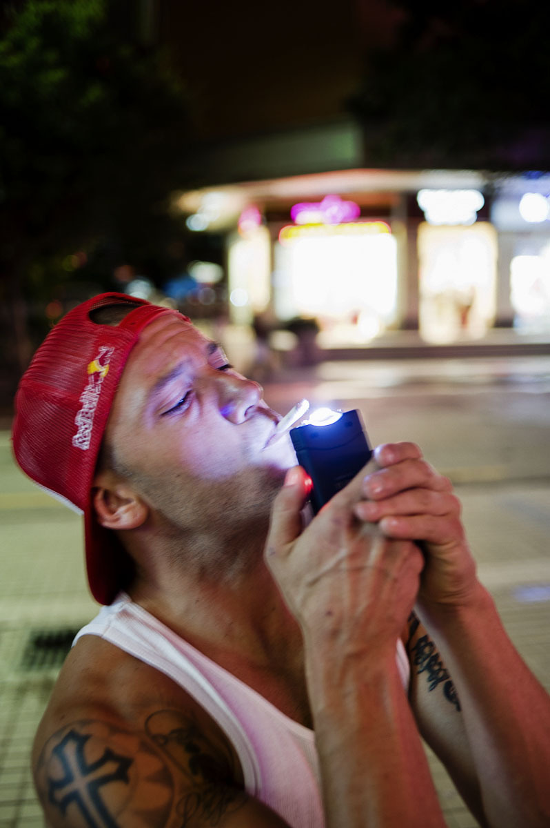 bencolen:  Brandon lighting his cigarette with a taser, China 2011