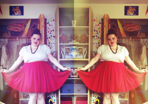 snapadoo:  Of course I got the red Asos skater skirt, of course! DId you doubt that I would? Me neither. I was waiting for them to make a red one and they pulled through! Seeing Start Trek Into Darkness tonight with Lucia, Irang, and Irang's friend Jacob. So excited!