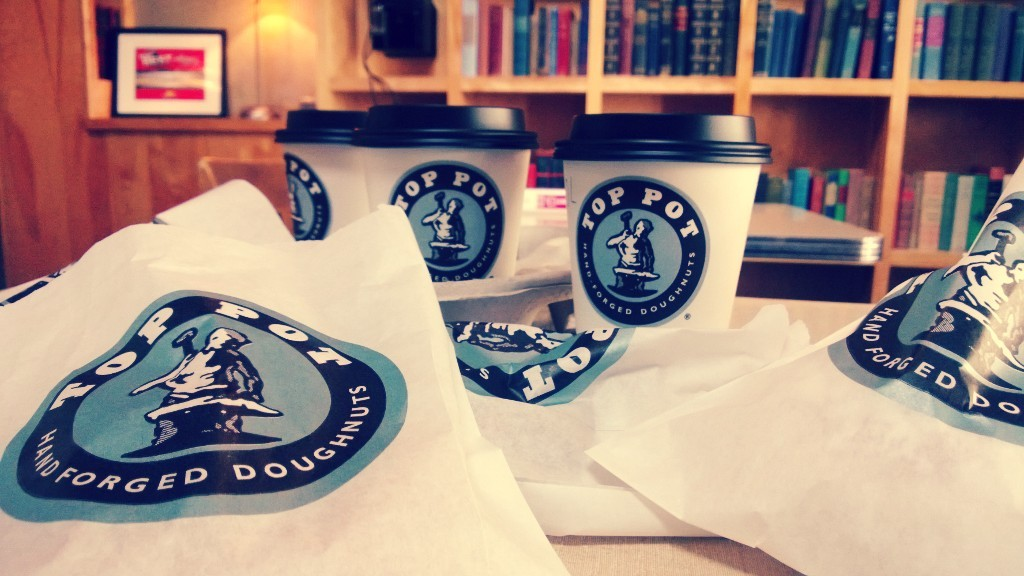 Doughnuts and coffee. A latte of them.