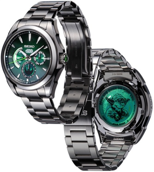 "Seiko unleashes stylish 'Star Wars' watches A long time ago in a galaxy far, far away, Seiko released a limited-edition series of ""Star Wars""-themed watches featuring Yoda, Darth Vader, and other characters from the sci-fi franchise. http://www.seiko-watch.co.jp/bz/starwars/"