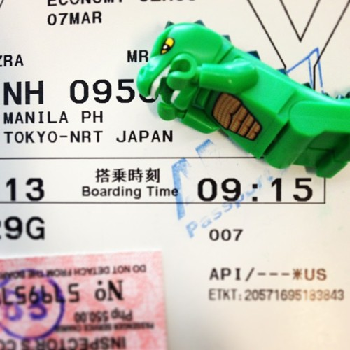 Watch out Japan 🇯🇵🐊 #godzillaspotting #tokyo #manila  #homecoming #lego