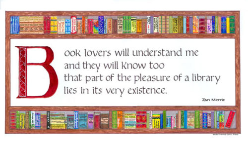 wordpainting:  Yes it does. I love the aesthetics of having books on shelves in my home.