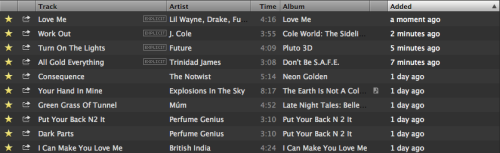 It's quite apparent that my listening patterns are extremely erratic.