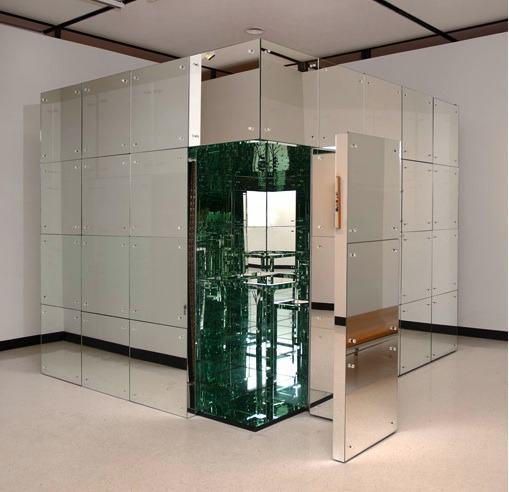 "LUCAS SAMARAS (AMERICAN; GREEK, 1936) ROOM NO. 2 (THE MIRRORED ROOM), 1966 mirror on wood overall: 96 x 96 x 120"" (243.84 x 243.84 x 304.8 cm.)  Albright-Knox Art Gallery, Gift of Seymour H. Knox, Jr., 1966 K1966:15 Photos: The Past Rendered"