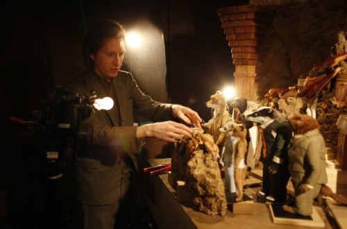 blogcairoblog:  Wes Anderson en el set de Fantastic Mr. Fox (2009)