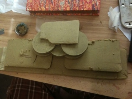 pot-scabby:  Just some pressed kief  fantastic weed